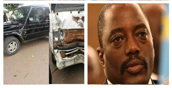 Accident simule par Joseph Kabila contre Moise Katumbi