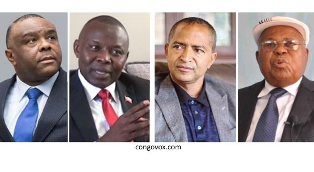Jean-Pierre Bemba, Vital Kamerhe, Moise Katumbi et Etienne Tshisekedi