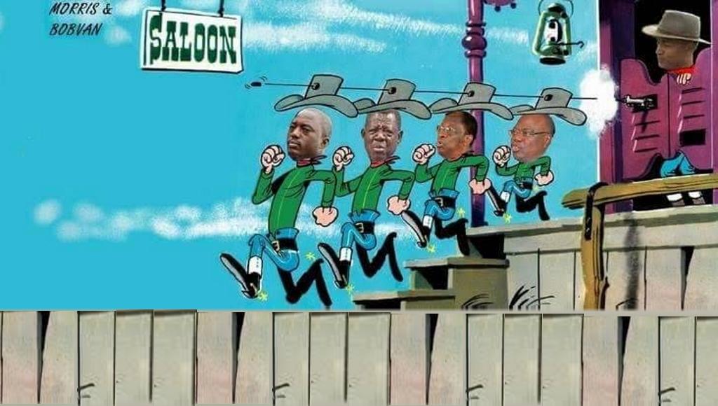 Joseph Kabila,Lambert Mende, Alexis Tambwe Mwamba, Kin Kie Mulumba