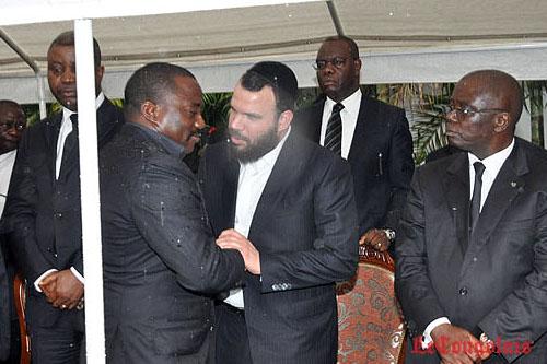 Joseph Kabila et l'Israelien Dan Gertler