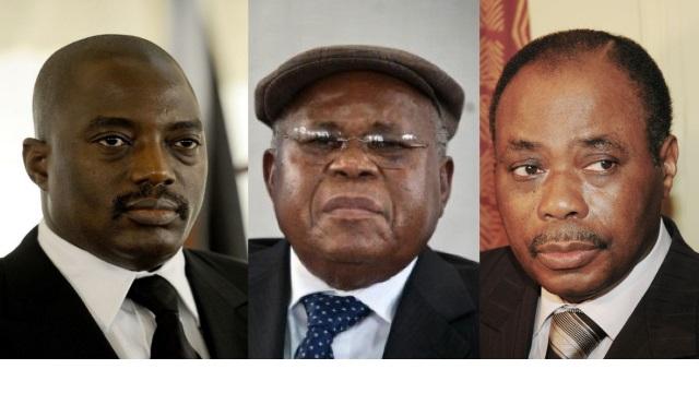 Joseph Kabila, Etienne Tshisekedi et Kodjo,