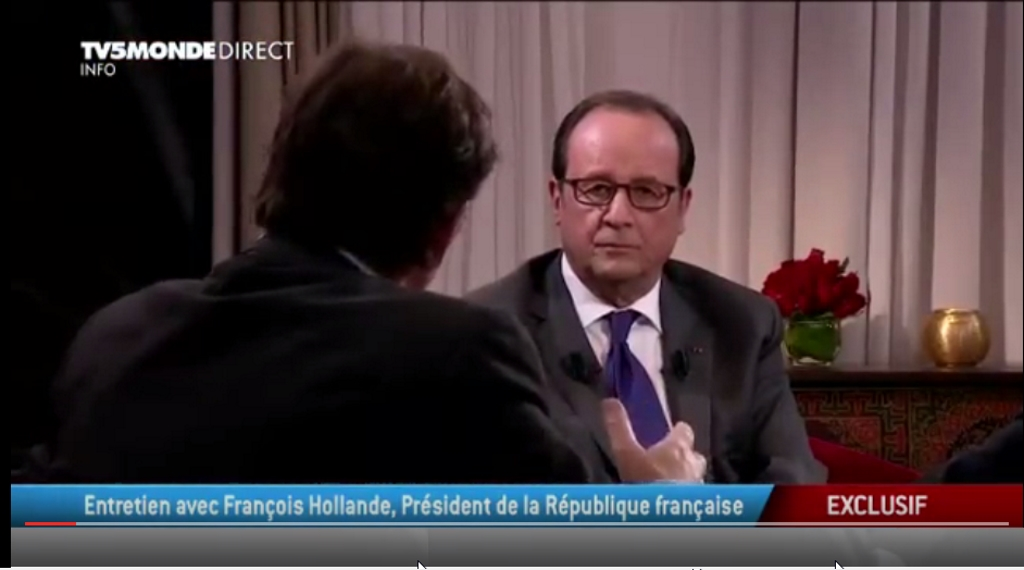 Francois Hollande En direct du Maroc