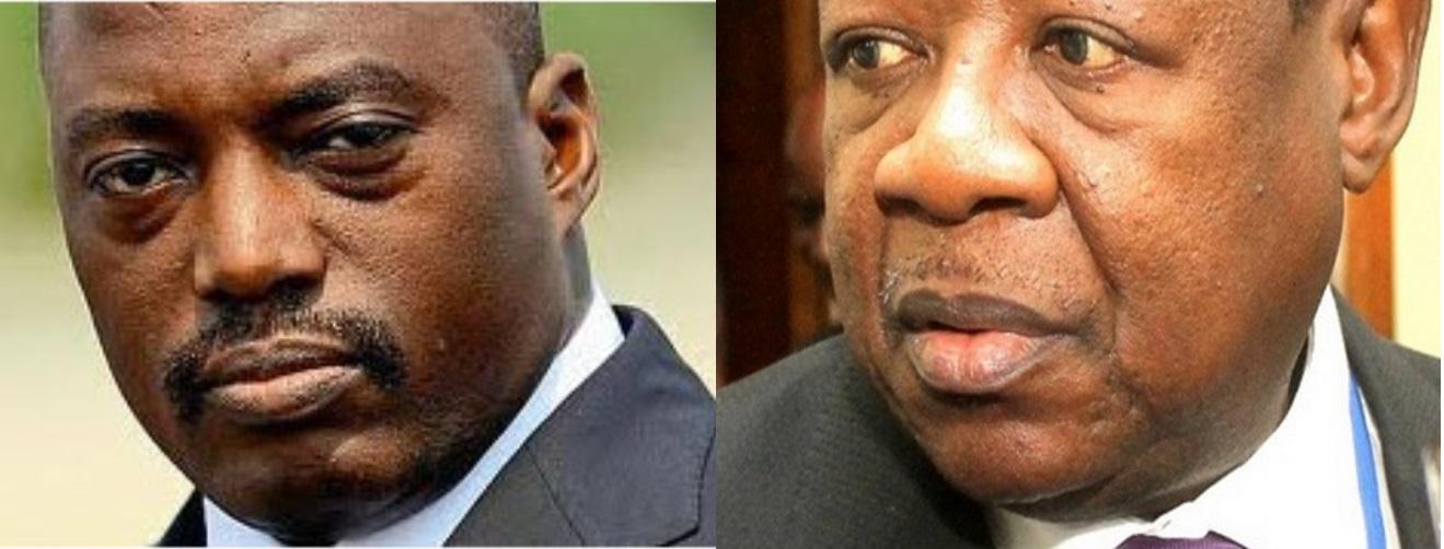 President Kabila et Lambert Mende Omalanga
