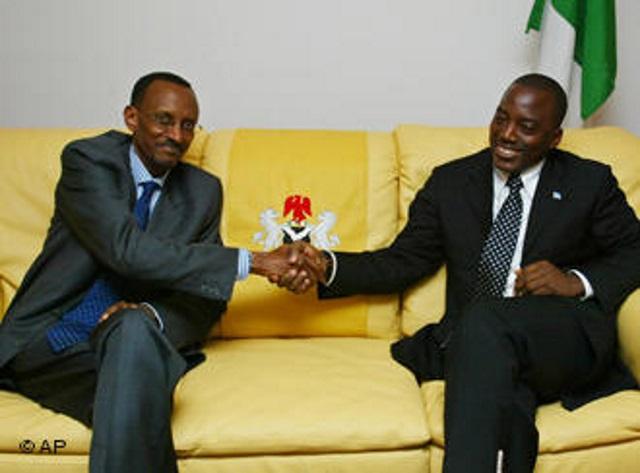 Paul Kagame et Joseph Kabila