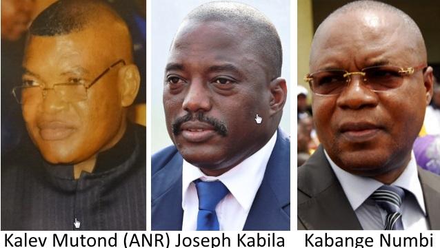 Kalev Mutond (ANR), Joseph Kabila, Kabange Numbi (PGR)