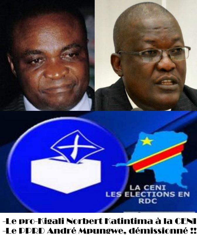 Norbert Katintma sera force a la tete de la CENI,  André Mpungwe a ete piege de demissioner