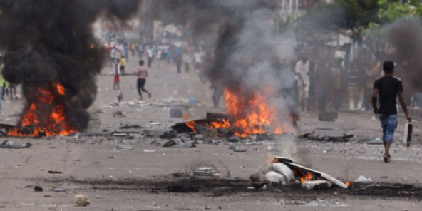Scène de violence à Kinshasa, les 19 et 20 septembre 2016.
