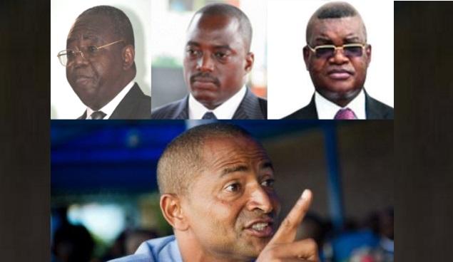 Pasteur Théodore Mugalu, Joseph Kabila, Kalev Mutond et Moise Katumbi