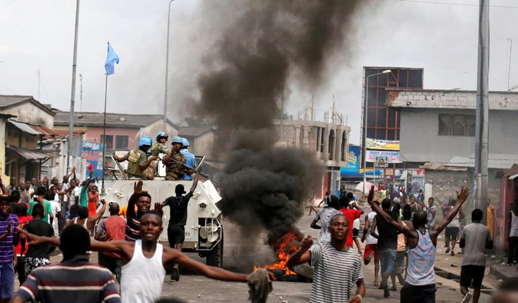 Manifestations contre Joseph Kabila mardi dans les rues de Kinshasa, en République démocratique du Congo. Crédit Thomas Mukoya /Reuters