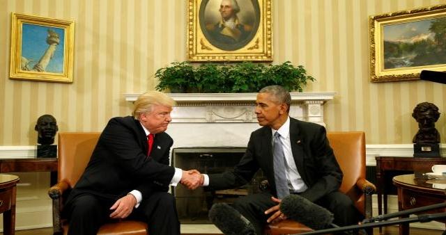 Le President elu Donald Trump et le President sortant Barack Obama