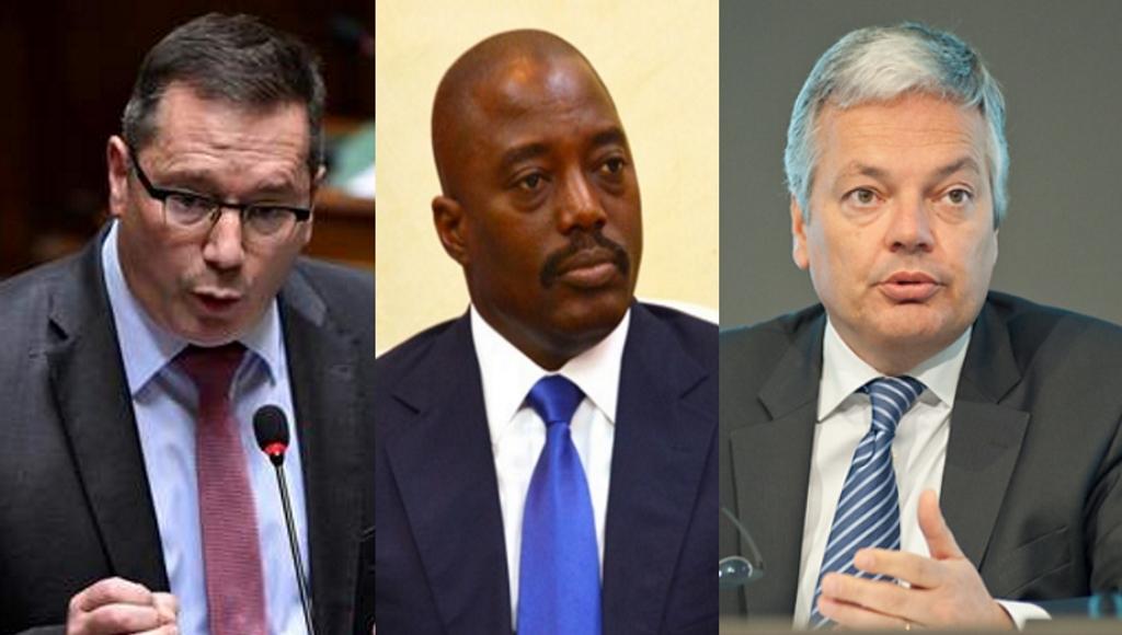 Député fédéral Peter Luykx , Joseph Kabila, Didier Reynders