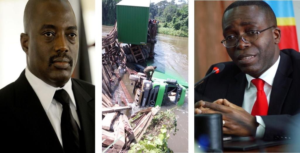 Joseph Kabila, Matata Mpoyo, Mauvaise gestion du pont sur la Semuliki