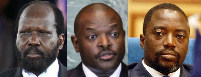 Salva Kiir, Nkurunziza, Joseph Kabila