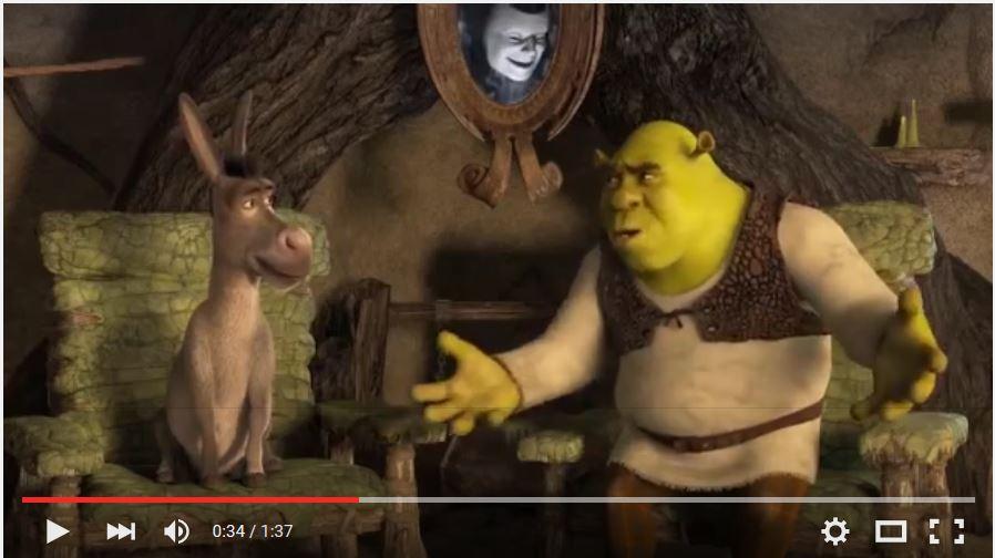 Shrek et l'Ane  sur le Dialogue Kabila