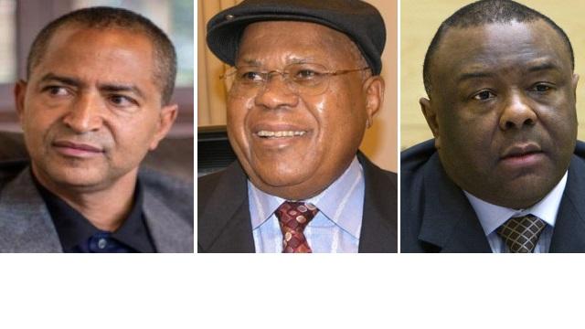 Moise Katumbi, Etienne Tshisekedi et Jean-Pierre Bemba