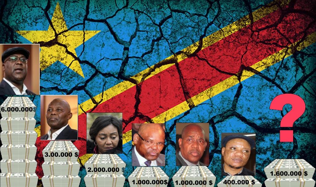 Felix Tshisekedi, Vital Kamerhe, Denise Nyakeru, Francois Beya, Francois Mwamba, Marc Kabund