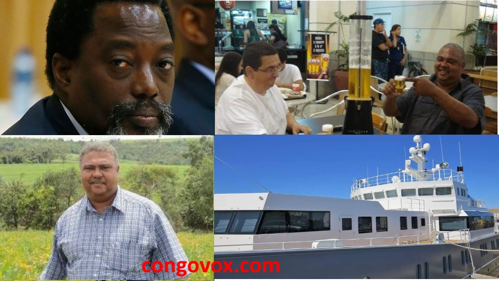 Marc Piedboeuf,  Alain Wan, Joseph Kabila