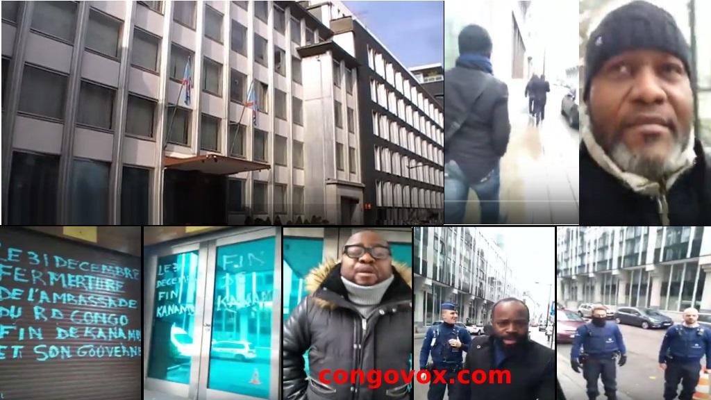Les combattants en Belgique ferment l'Ambassade de la RD Congo