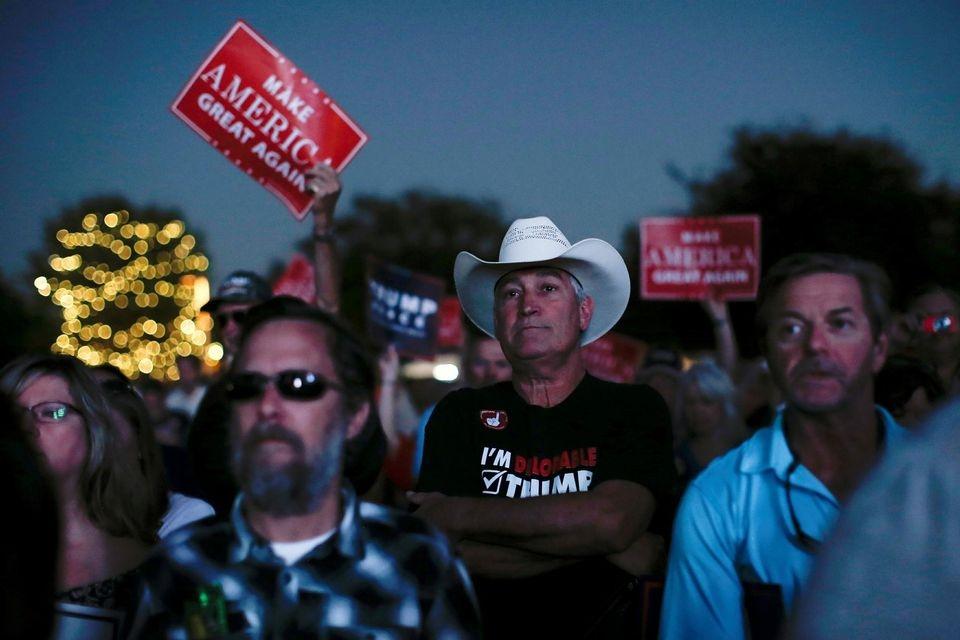 Des trumpistes à Panama City, Floride, le 11 octobre. REUTERS