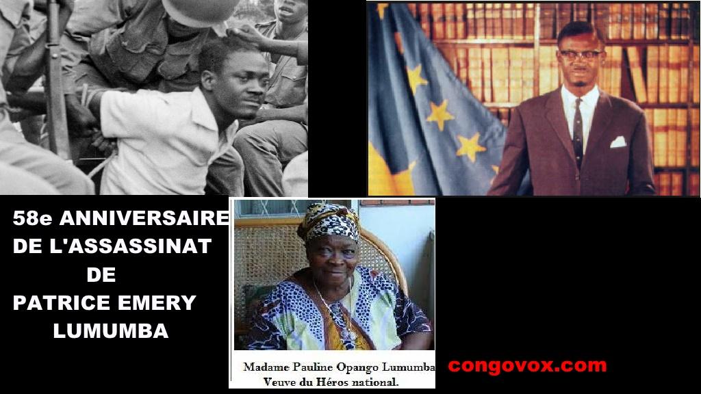 58 eme Anniversaire de Patrice Emery Lumumba