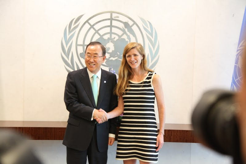 Ban Ki-moon et Samantha Power