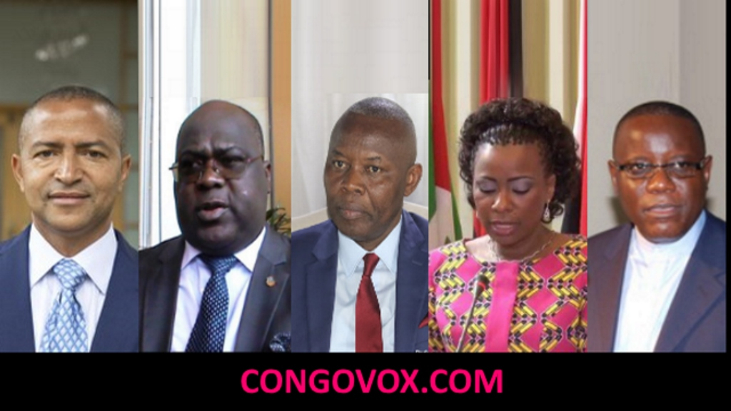 Moise Katumbi, Felix Tshisekedi, Vital kamerhe, Olive Lembe et Aubin Minaku