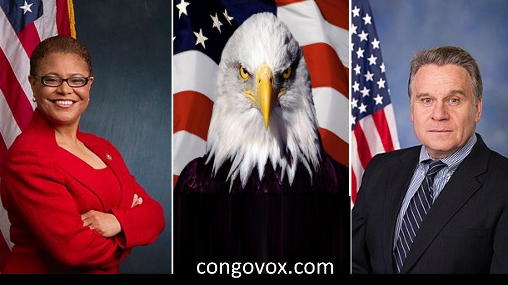 Congress members: Karen Bass et le Predident Chris Smith