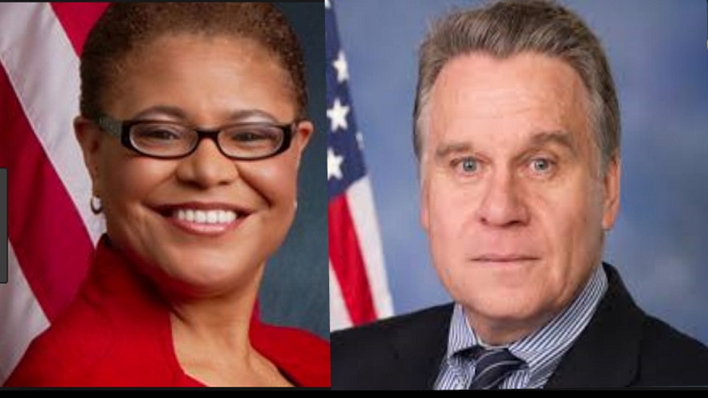 US Congress members: Karen Bass et le Predident Chris Smith