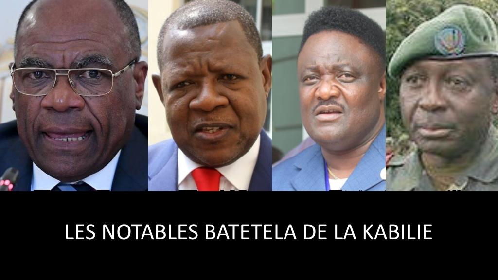 Leonard She Okitundu, Lambert Mende, Joseph Olenga Nkoyi, General Francois Olenga