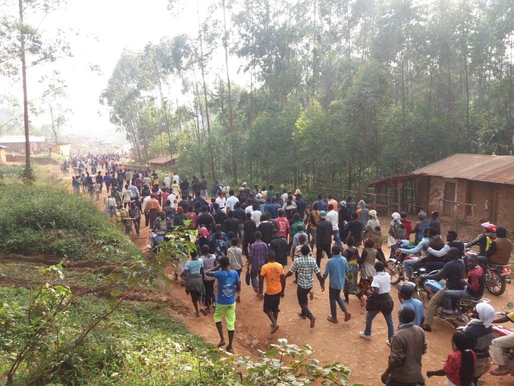 Les marcheurs de Butembo vers Beni
