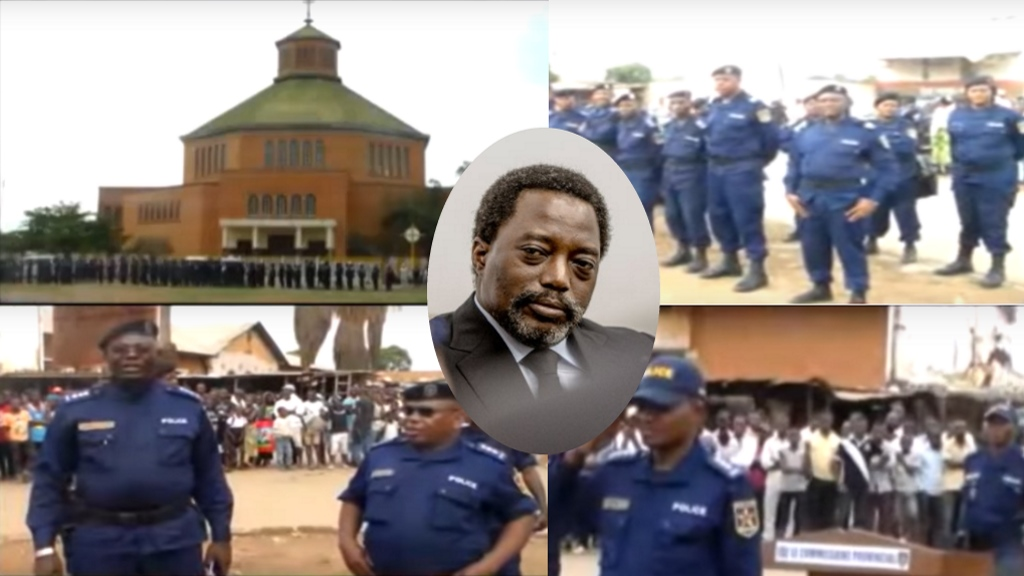 Lubumbashi: La police de Joseph Kabila s'en prenne au bon Dieu et ses croyants