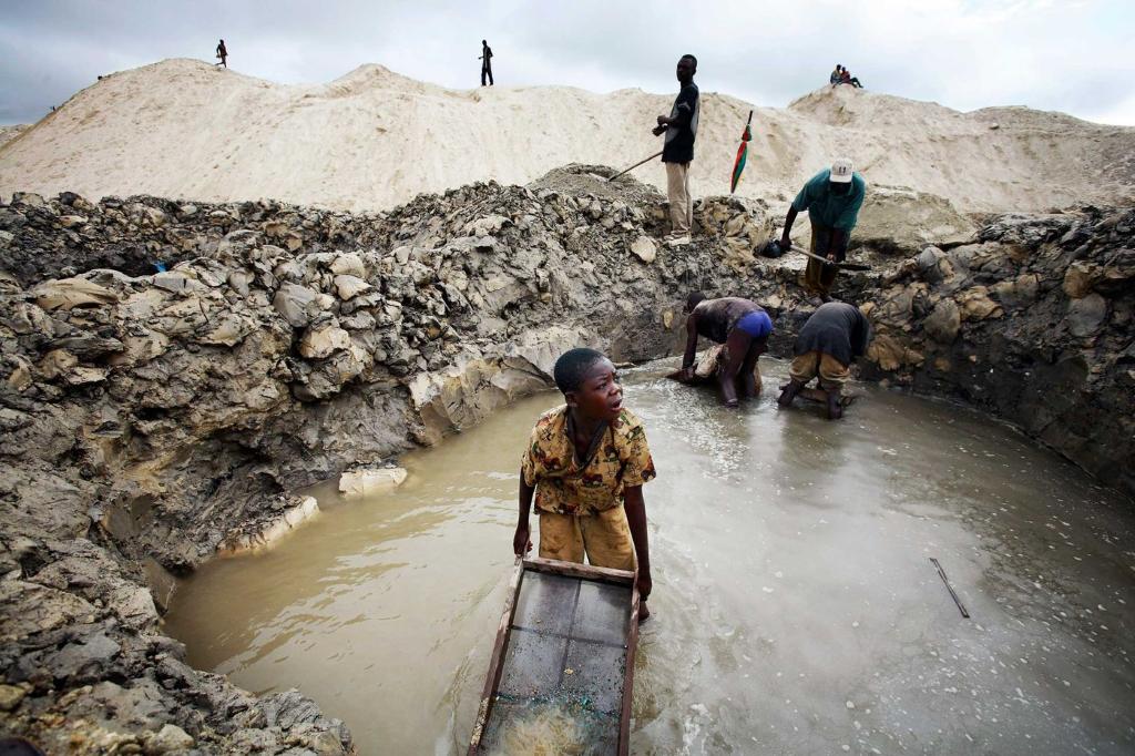 Un jeune creseur qui travaille pour la famille Kabila