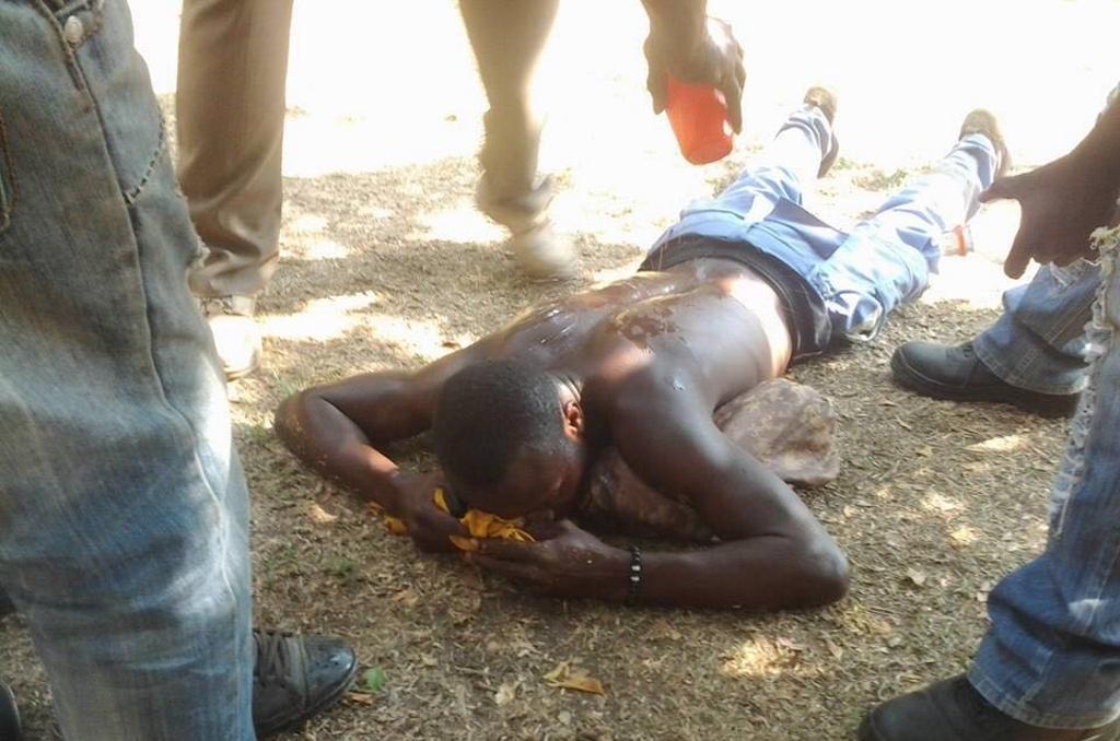 Un victime de la brutalite policiere a Lubumbashi, RDC