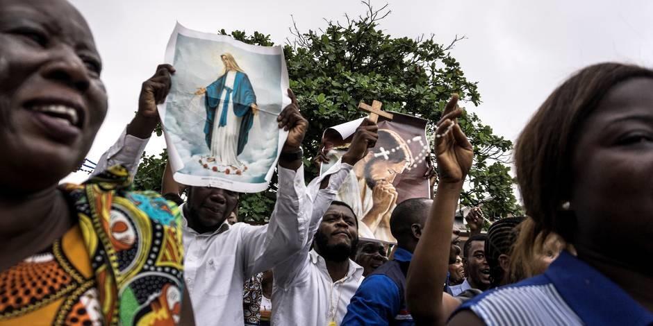 Les manifestants a Kinshasa