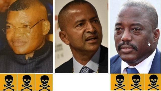 Kalev Mutond (ANR), Moise Katumbi, Joseph Kabila