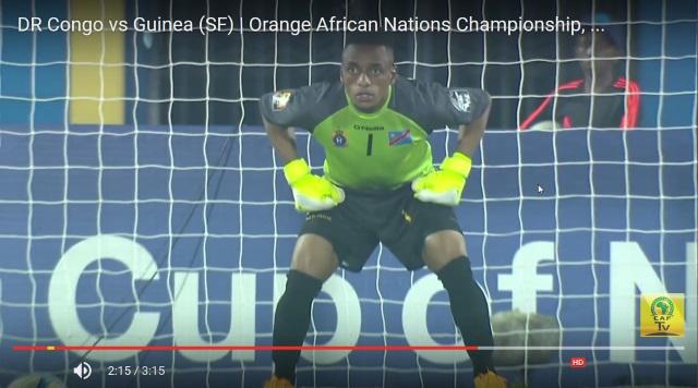 Goal keeper de RDC, Mutampi arrête la frappe de Youla