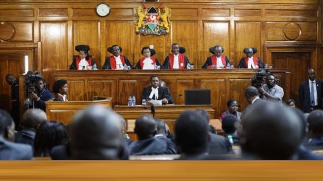 Les membres de la Cour suprême du Kenya, le 1er septembre 2017.
