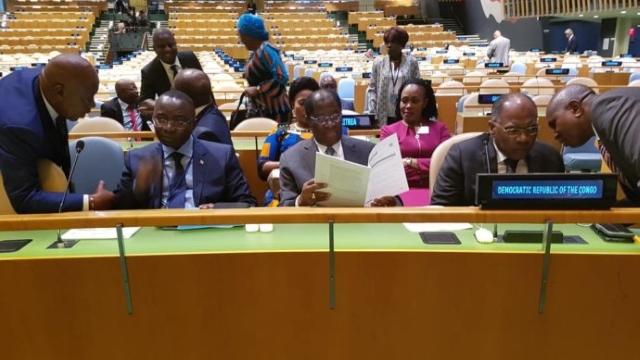 Delegation de la RD Congo à la 72e assemblée de l'ONU, New York
