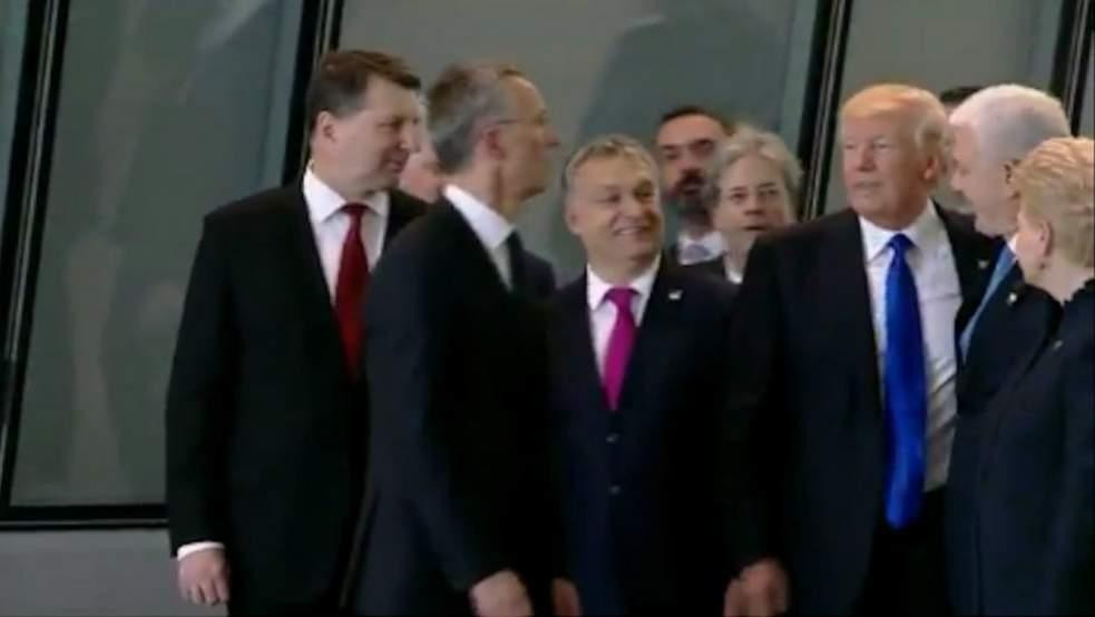 Président Donald trump et les Leaders de l'OTAN