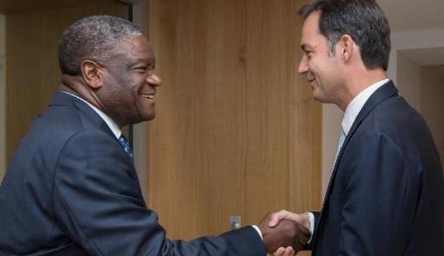 Dr. Mukwege et M. De Croo