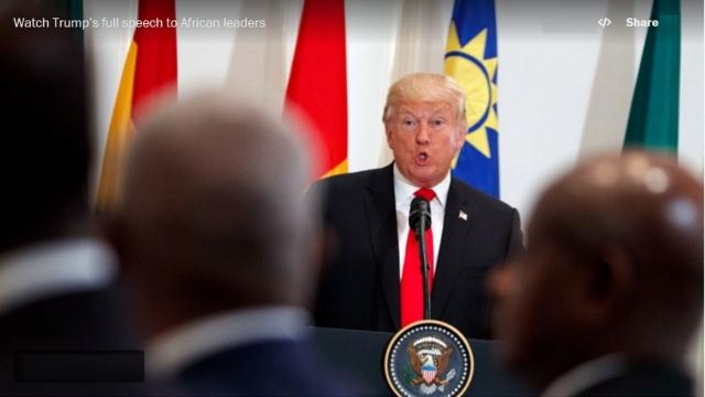 Président Donald trump et les Présidents d'Afrique