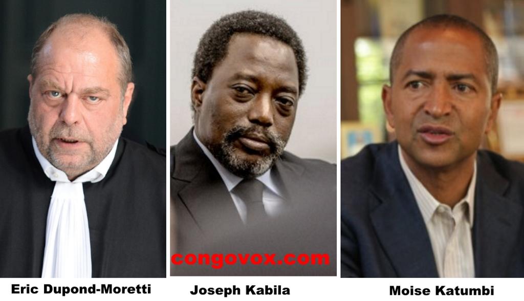 Eric Dupond-Moretti, Joseph Kabila, Moise Katumbi