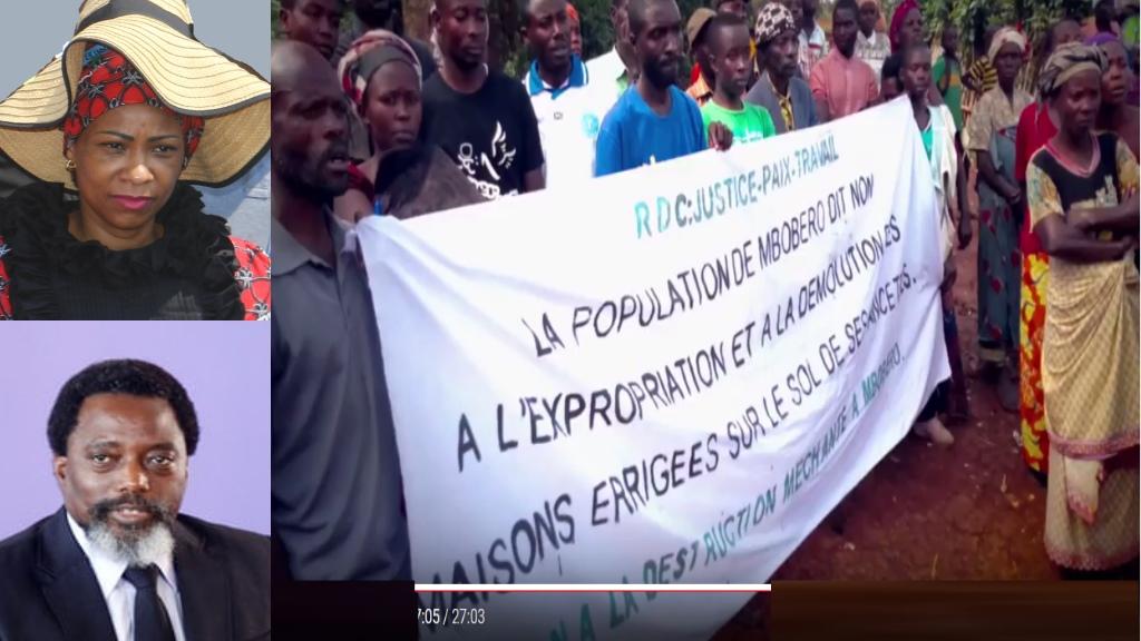 Madame Olive Lembe, Joseph Kabila, population expropriée de Mbobero, Sud-Kivu