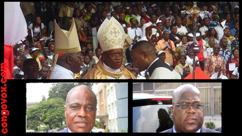 Cardinal Monsengho, Archeveque Ambongo, Felix Tshisekedi, Martin Fayulu,