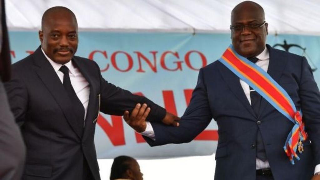 Joseph Kabila et Felix Tshisekedi