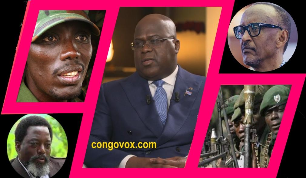 Sultane Makenga (M23), Felix Tshisekedi, Joseph Kabila, M23