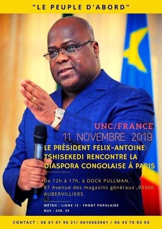 Felix Tshisekedi, le 11-11-2013 a Paris