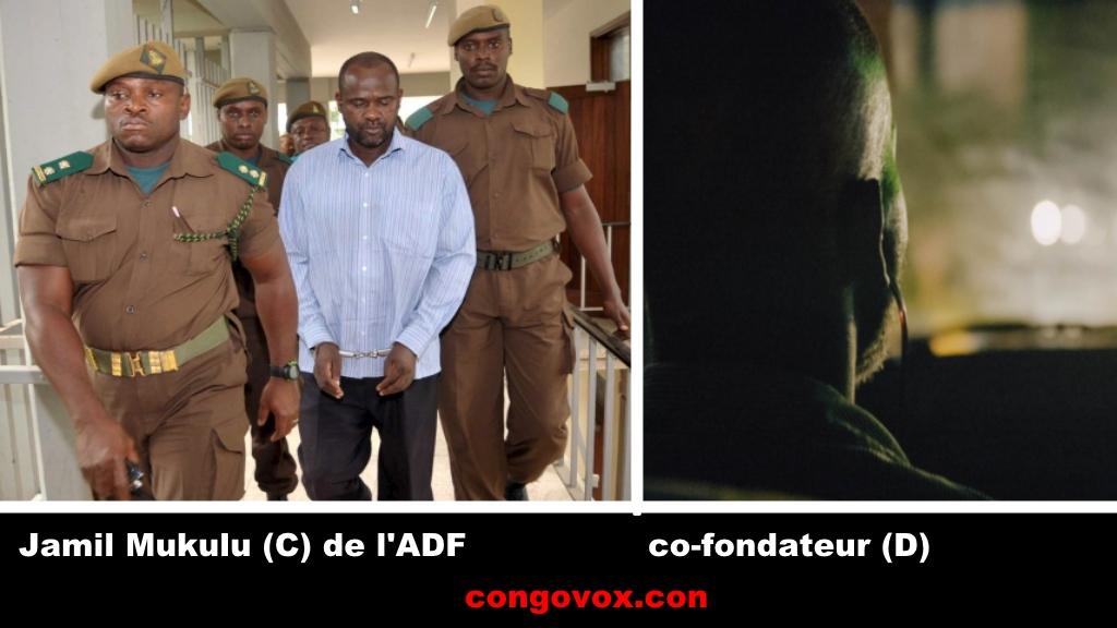 Deux terroristes: Jamil Mukulu (C) et un autre fondateur de l'ADF