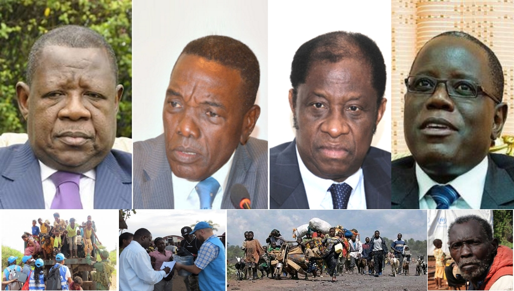 lambert Mende, Atundu, Tambwe Mwamba et Aubin Minaku