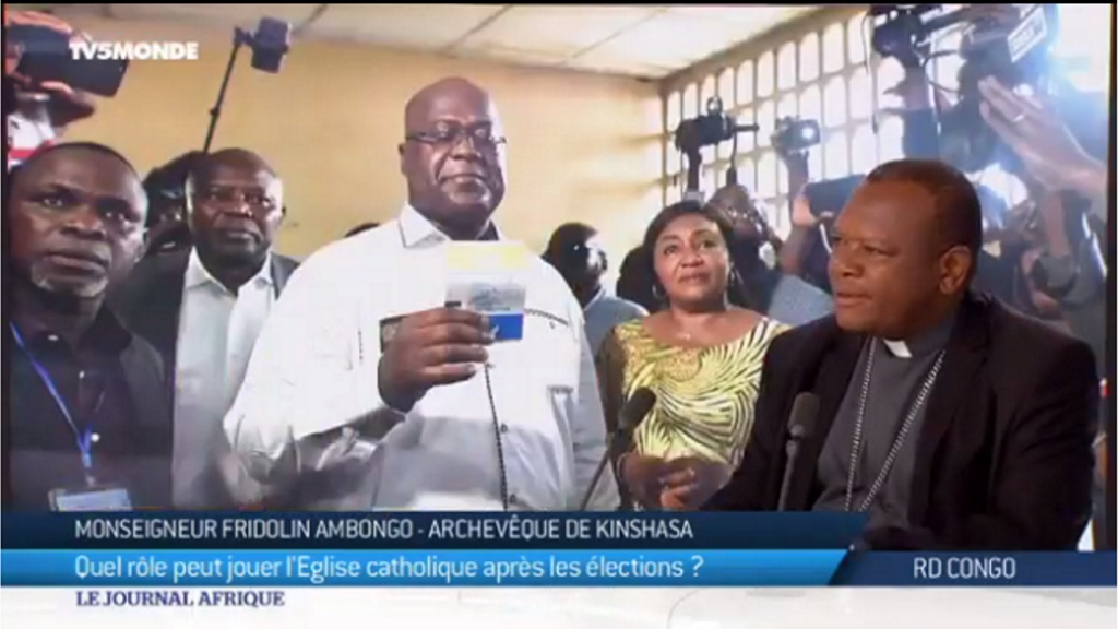 Monseigneur Fridolin Ambongo, Archeveque de Kinshasa